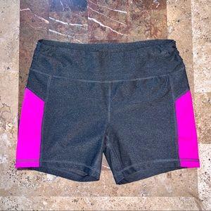Women's SZ M EXPRESS CORE Gray/Pink Biker Shorts